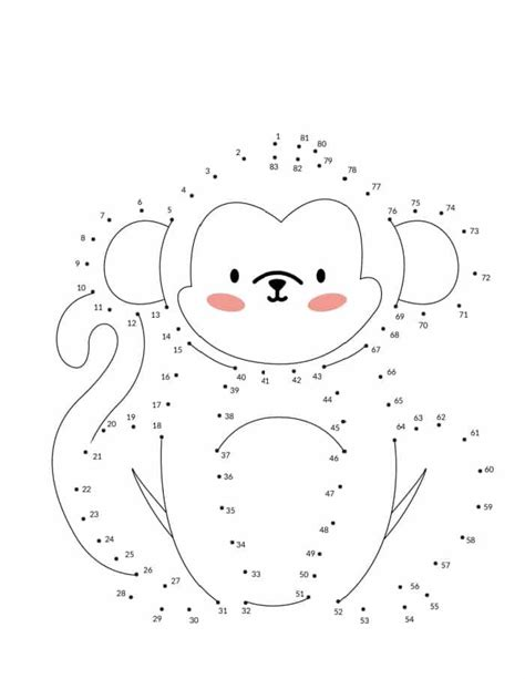 Dot to dot printables Free Connect the dots worksheets