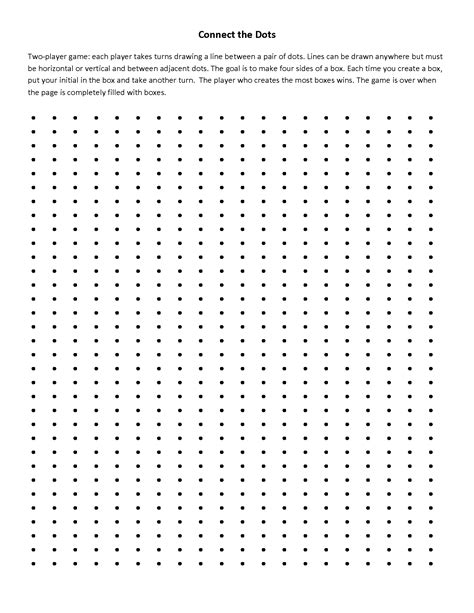 Dots Game Printable Connect Dot to Dot Games for Kids