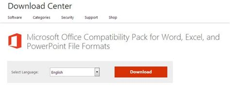 Download Microsoft Office Compatibility Pack for Word