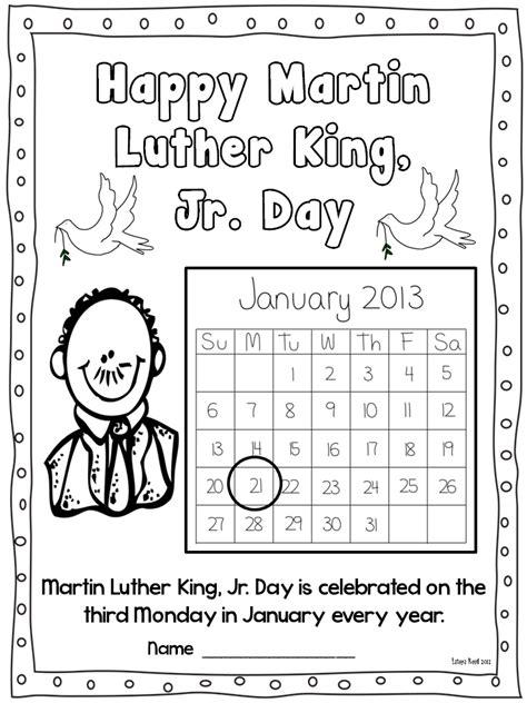 Dr Martin Luther King Jr Day Worksheets Printables