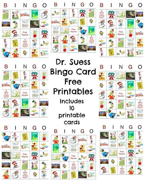 Dr Seuss Bingo Game Free Printable