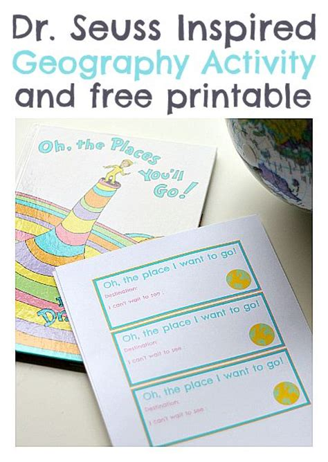 Dr Seuss Geography Activity FREE Printable No Time For