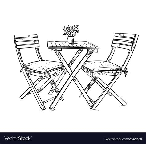 Drafting table and chair furniture by owner