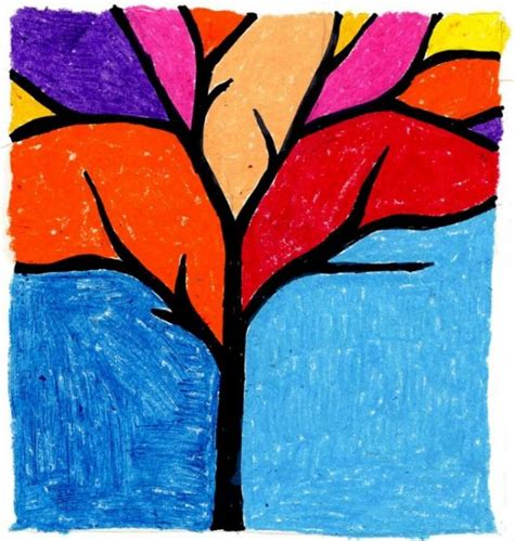 Draw A Tree Simply And Easily Easy Drawings And Sketches