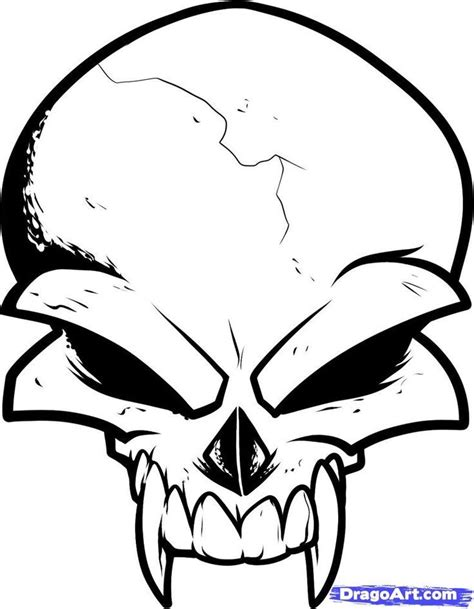Draw Skulls Can Be This Easy easy drawings and sketches