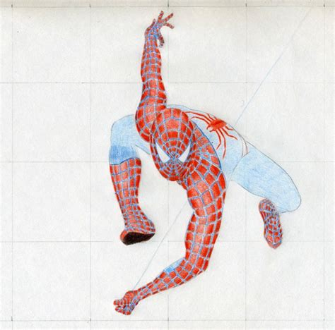 Draw Spiderman In Action Easy Drawings And Sketches
