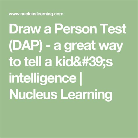 Draw a Person Test DAP a great way to tell a kid s