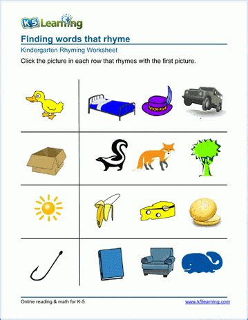 Draw a Rhyme Worksheets 1 and 2 tlsbooks