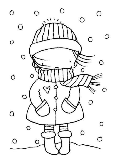 Draw the details on the Winter coloring pages