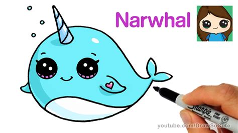 Drawing How To Draw a Cute Cartoon Whale Easy Step by