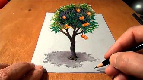 Drawing Tree How to Draw 3D Mango Tree Trick Art on