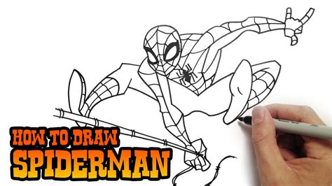 Drawing Tutorial How to draw Spider Man Easy YouTube
