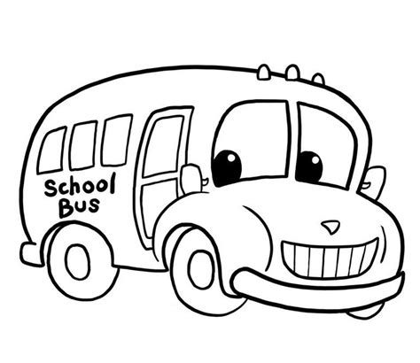 Drawing a cartoon bus How to draw funny cartoons