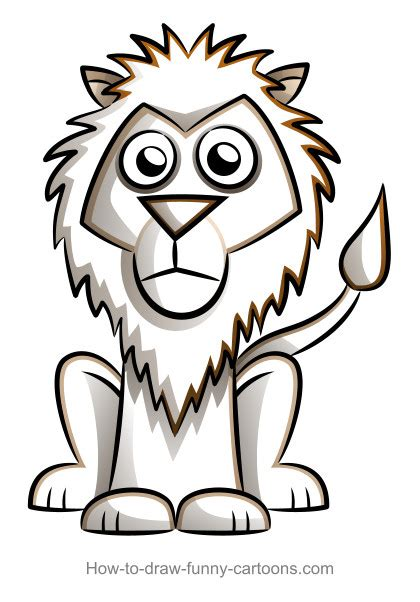 Drawing a cartoon lion How to draw funny cartoons