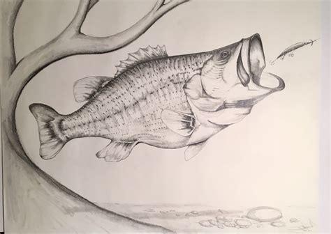 Drawing fish Etsy