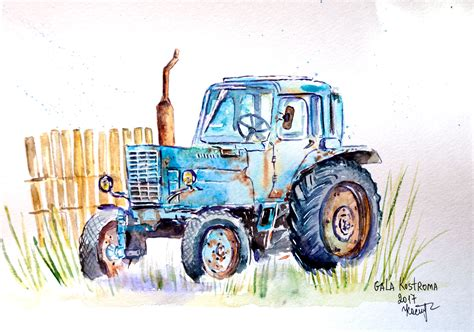 Drawing tractor The Drawbot