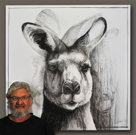 Drawings of Kangaroos by Michael Chorney