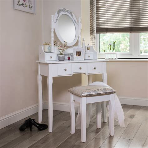 Dressing Tables Mirrored White More Super Amart