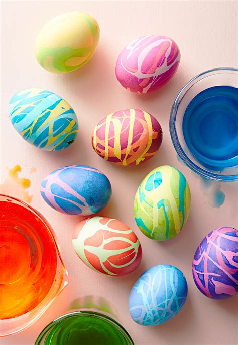 Drizzled Easter Eggs Better Homes and Gardens