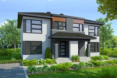Duplex House Building Plans and Floor Plans at