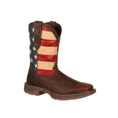 Durango Men s Rebel 11 in Pull On Flag Boot at Tractor