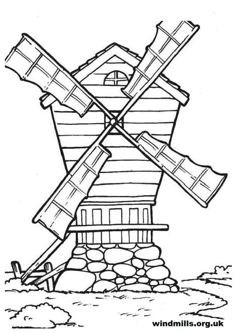 Dutch Windmill coloring page Free Printable Coloring Pages