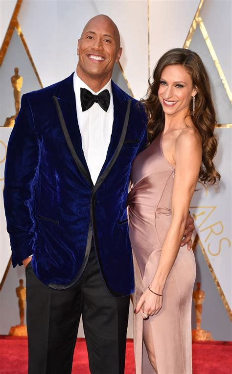 Dwayne Johnson and Lauren Hashian 2017 Oscars red carpet