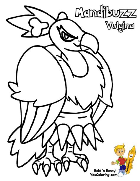 Dynamic Pokemon Black And White Coloring Sheets