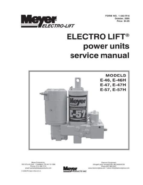 ELECTRO LIFT power units service manual