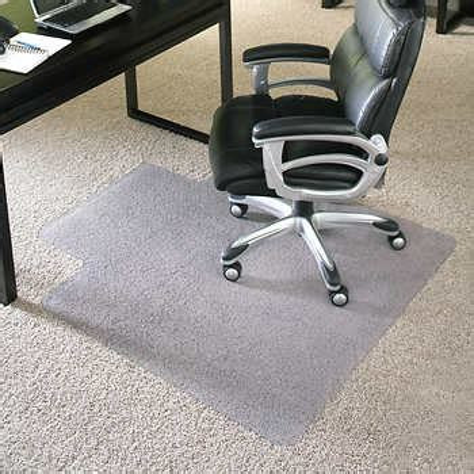 ES Robbins Chair Mat for High Pile Carpet 36 x 48 w Lip