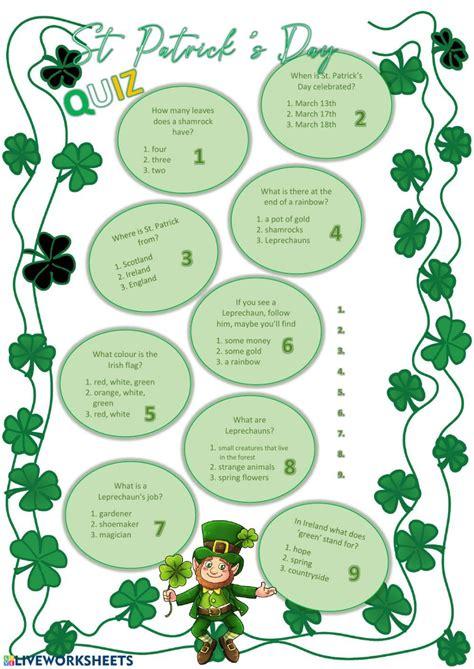 ESL Conversation Questions Saint Patrick s Day I TESL J