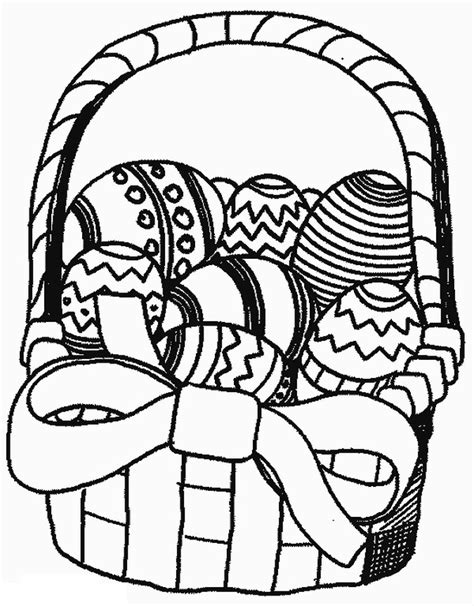 Easter Basket Coloring Page Free Online Coloring Pages