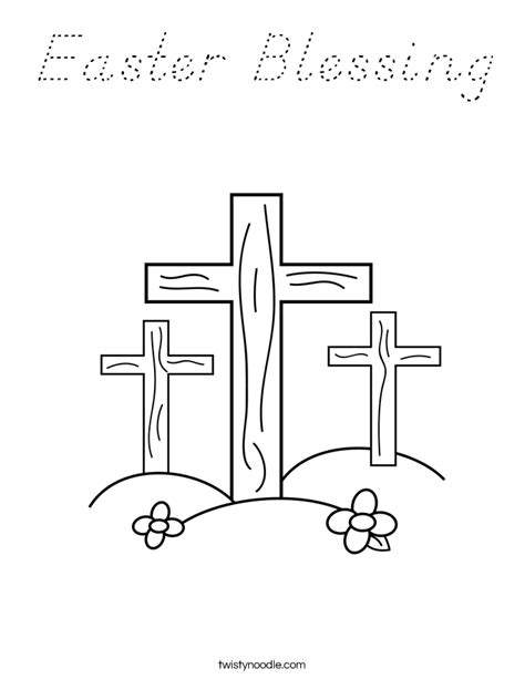 Easter Blessing Coloring Page Twisty Noodle