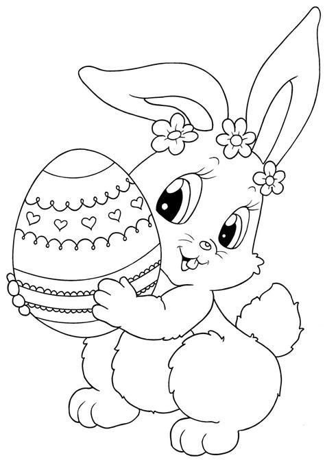 Easter Coloring Pages Good Easter Bunny