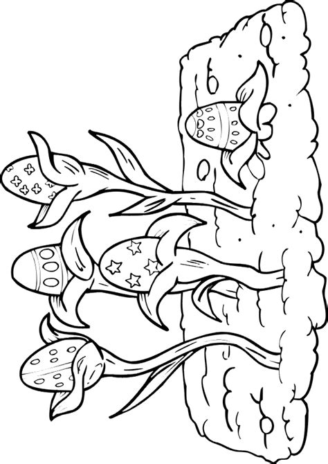 Easter Egg Coloring Page Easter Eggs Growing Like Plants