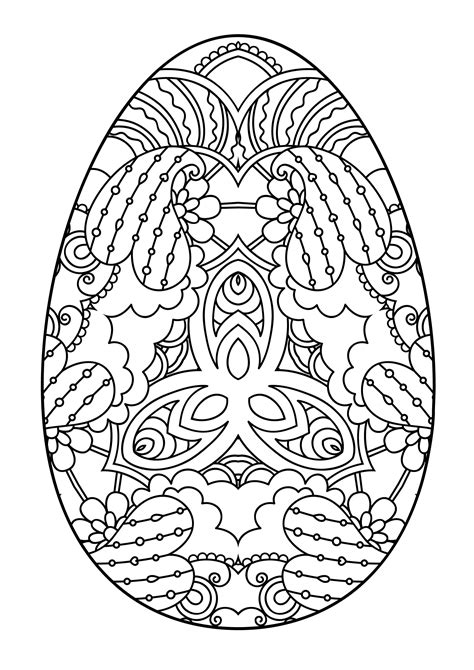 Easter Egg Coloring Pages Moms Who Think