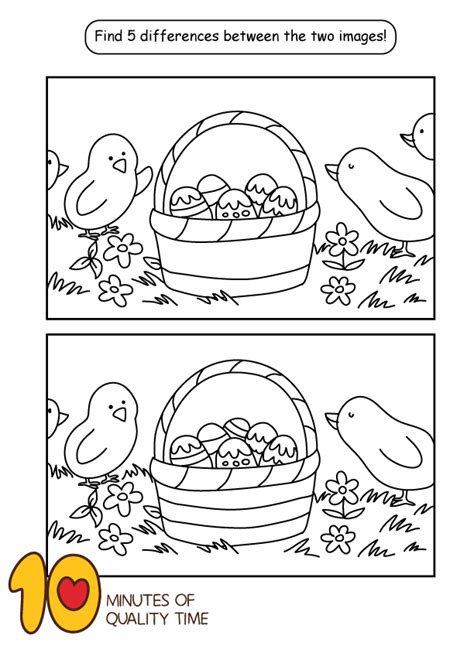 Easter Spot the Difference A Kid s Heart