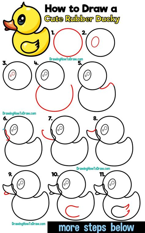 Easy Cartoon Drawing Tutorials How to Draw a Cute