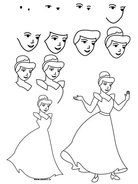 Easy Cinderella Princess Drawing Step By Step Free