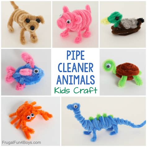 Easy Craft for Kids Pipe Cleaner Animals