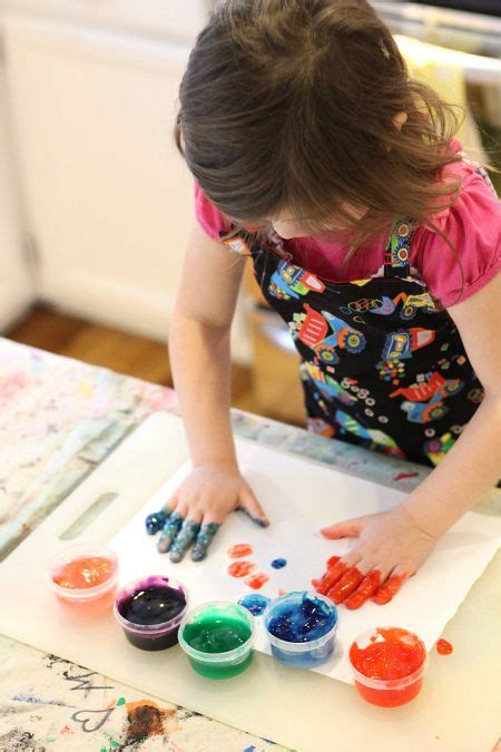 Easy Finger Paint Recipe No Time For Flash Cards