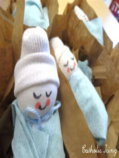 Easy Jesus Christmas Craft Make A Sock Catholic Icing