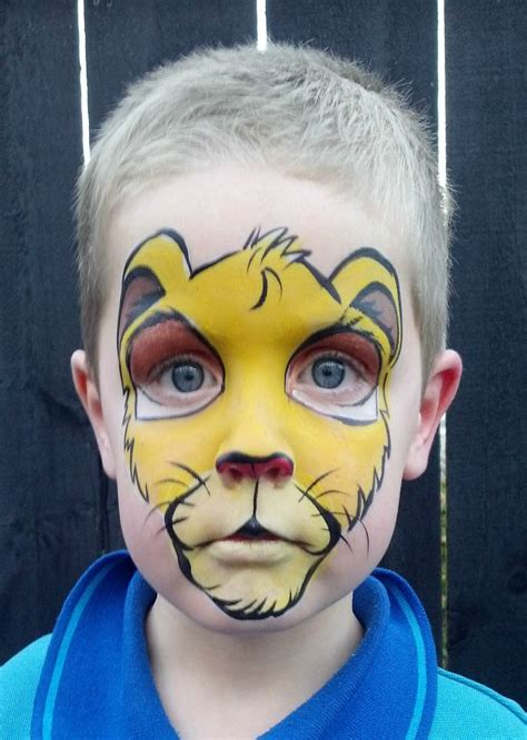 Easy Lion Face Paint images Hdimagelib