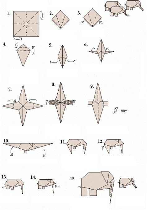 Easy Origami Elephant Folding Instructions How to Make