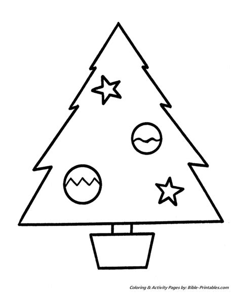 Easy Pre K Christmas Coloring Pages Christmas Tree