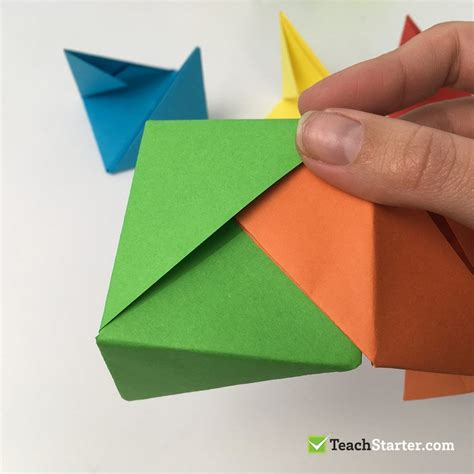 Easy and Fun Origami Box for Kids Teach Starter Blog