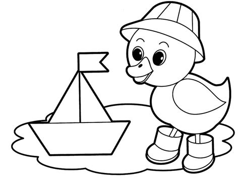 Easy coloring pages for toddlers