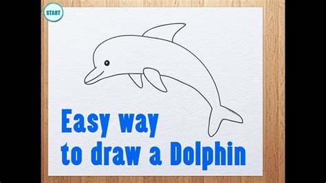 Easy way to draw a Dolphin YouTube