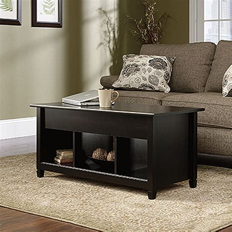 Edge Water Coffee Table with Lift Top Estate Black The