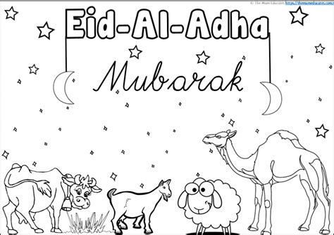Eid ul Adha Colouring in Picture iChild